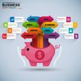 抽象3D数字式企业商务Infographic 免版税库存照片