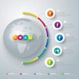 抽象3D数字式例证Infographic。 免版税库存图片