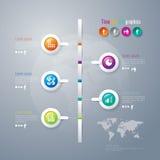 抽象3D数字式例证Infographic。 库存图片