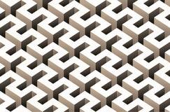 抽象3D无缝的样式 库存例证