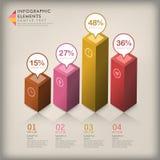抽象3d立方体infographics 免版税图库摄影
