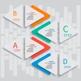 抽象3D纸Infographics 免版税库存图片