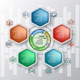 抽象3D纸Infographics 图库摄影