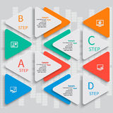 抽象3D纸Infographics 免版税图库摄影