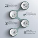 抽象3D纸Infographics 库存照片