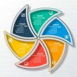 抽象3D纸Infographics 免版税库存照片