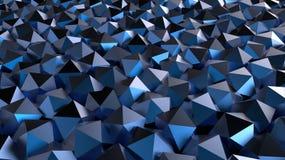 抽象3D蓝色几何形状 免版税库存照片