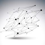 抽象3D结构多角形传染媒介滤网元素 免版税库存图片