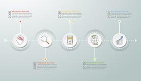 抽象3d infographic 5个选择, infographic企业的概念 图库摄影