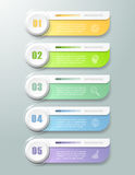 抽象3d infographic 5个选择, infographic企业的概念 库存照片