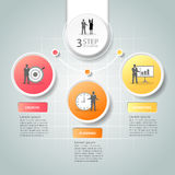 抽象3d infographic 3个选择, infographic企业的概念 免版税库存照片