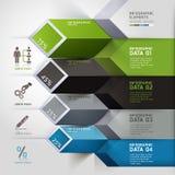 抽象3d infographics选择。 皇族释放例证