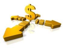 抽象3DCG表明经济在涨潮 向量例证