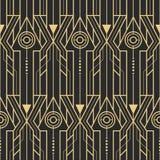 抽象派deco techno无缝的样式 皇族释放例证