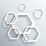 抽象3D几何设计 库存图片