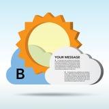 抽象3D天气演讲泡影。 免版税图库摄影