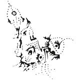 抽象b指针风格化起义w 免版税图库摄影