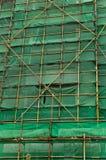抽象backgground绿色网脚手架 库存图片