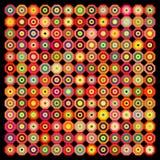 抽象backgro黑色几何桔子 向量例证