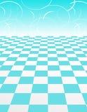 抽象backgroun蓝色验查员模式漩涡 图库摄影