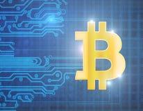 抽象bitcoin背景 免版税库存照片