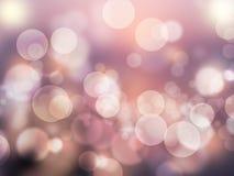 抽象bokeh作用浪漫紫色摘要背景发光和被弄脏的墙纸 库存照片