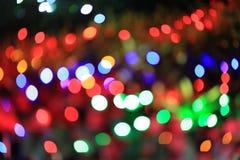 抽象bokeh圣诞灯 库存图片