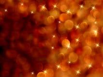 抽象bokeh火热的starburst 免版税库存图片