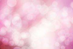 抽象bokeh背景、桃红色和白色 免版税库存照片
