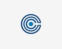 抽象c信件商标模板象设计 免版税图库摄影