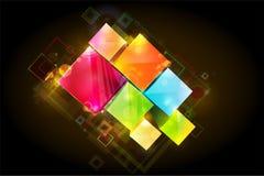 抽象colorfull正方形 皇族释放例证