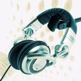 抽象dj耳机 免版税库存图片