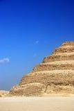 抽象djoser埃及金字塔步骤 免版税库存图片
