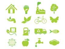 抽象eco图标多个 库存照片