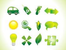 抽象eco图标 免版税库存照片