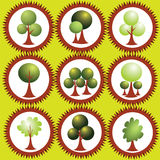 抽象eco标记绿色发辫 免版税库存照片