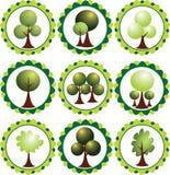 抽象eco标记绿色发辫 库存照片