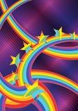 抽象eps彩虹星形 库存照片