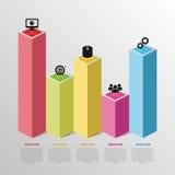 抽象infographic企业图表 向量 免版税库存照片
