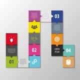 抽象infographic传染媒介 正方形样式模板 库存图片