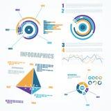 抽象infographics元素 免版税库存照片