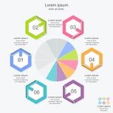 抽象infographics数字选择模板, infographic企业的概念 免版税库存照片