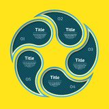 抽象infographics数字选择模板 也corel凹道例证向量 能为工作流布局,图,企业步选择使用 免版税库存图片