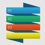 抽象infographics数字选择模板 免版税图库摄影