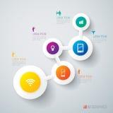 抽象infographics模板设计。 库存例证