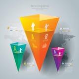 抽象infographics模板设计。 免版税库存照片