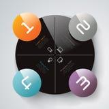 抽象infographics模板设计 免版税库存照片