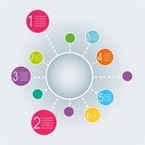 抽象infographics模板设计 库存照片