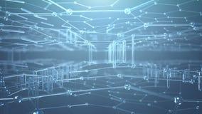 抽象Nanotech背景 股票录像
