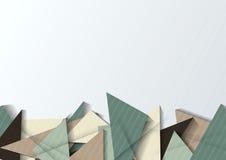 抽象origami横幅 图库摄影